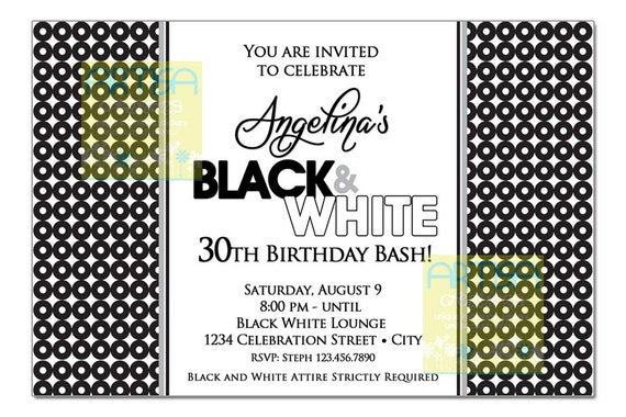 Black and white 30th birthday party invitations superboomviafo black white paris theme 30th birthday party invitation image 0 image 0 filmwisefo