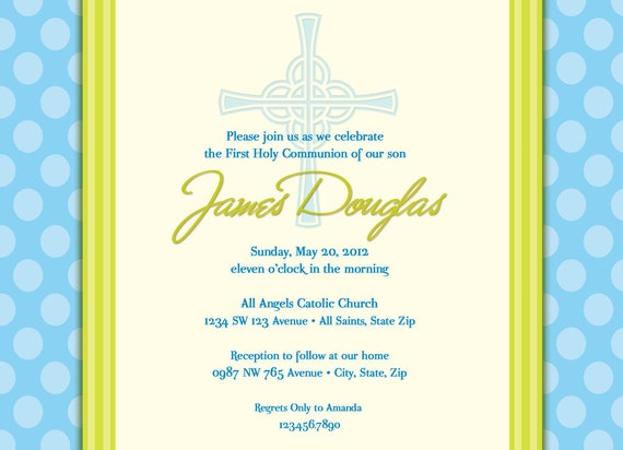 boy s first communion invitations communion invitations etsy