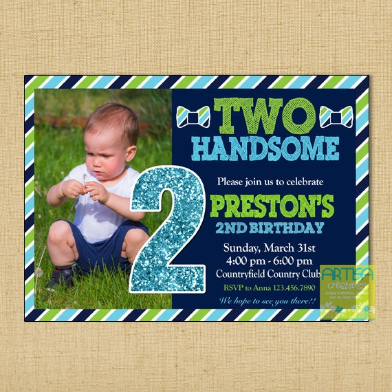 Two Handsome Invitation 2nd Birthday