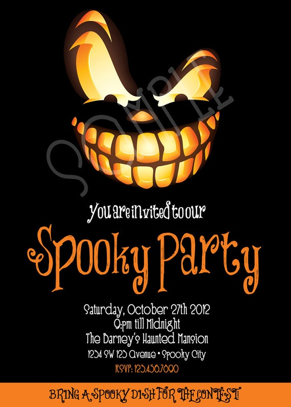 Spooky Party Invitation Adult Halloween