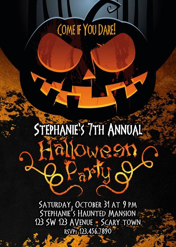 adult free halloween invitation party