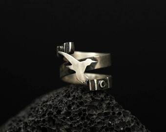 Hummingbird  Motive Ring | Sterling Silver Jewelry | Five Elements of Nature |