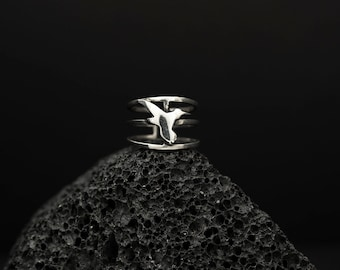 Hummingbird  Triple Ring | Animal Jewelry | Nature Elements | Conceptual Jewelry | Unique Gift
