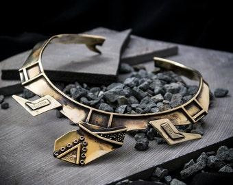 Turtle Statement Necklace | Brass choker Jewelry | Spiritual jewel