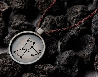 Orion Pendant in frame   Constellations Necklaces   Symbolic Jewellery   Unique Gift
