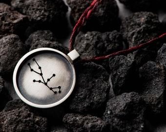 Virgo Pendant in Frame   Unisex Necklace   Unique Gift