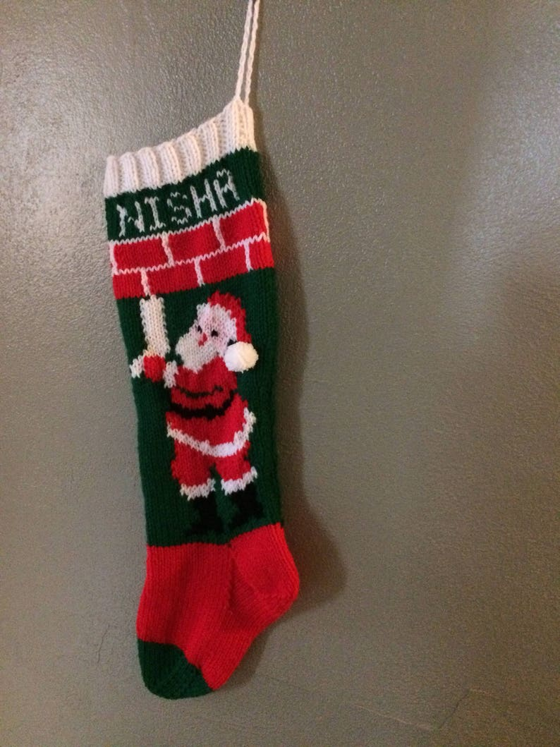 Winter Playground Hand Knitted Personalized Christmas Stocking