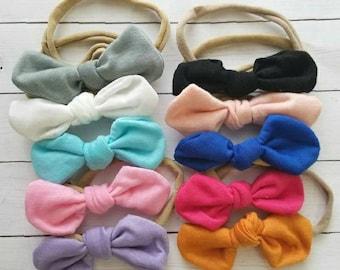 Baby Headband, Nylon Headbands, Knot Headbands Infant Headband, Toddler Headband, Top Knot Headbands, Baby Headband Set