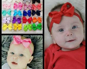 You Pick Bow Headband, Baby Headband, Bow Headband, Baby Headbands, Infant Headband, Newborn Headband, Infant Headbands, Baby Headband Bow