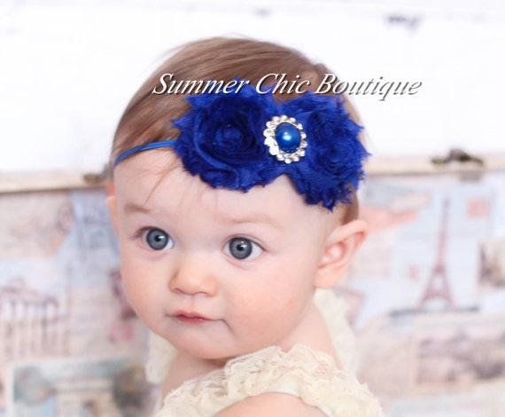 Baby Headband Infant Headband Newborn Headband Royal Blue  22ce3cbfdea