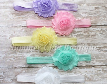Baby Headband Set of 5, Baby Headband, Infant Headband, Newborn Headband, Toddler Headband, Girls Headband, Baby Headbands, Pastel Headbands