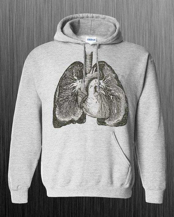Anatomía de pulmones único sudadera con capucha   Etsy