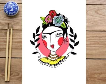 ART PRINT // Frida Kalo // ilustracion