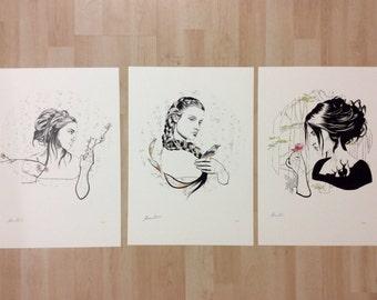 """Serie """"El Bosque""""- Impresiones digitales de alta calidad - series limitadas  1/50 - tres modelos diferentes ( 1-2-3)"""