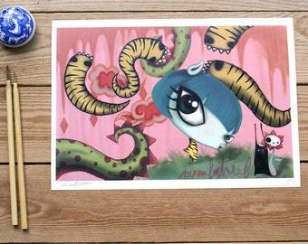 ART PRINT // pop surrealismo // ilutracion