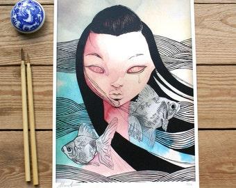 ART PRINT // Marina // ilutracion