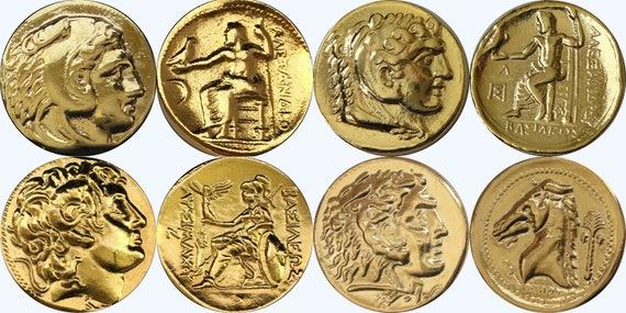 4 Münzen Von Alexander Der Große König Von Mazedonien Etsy