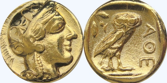 3 Versions of Famous Greek Coins Percy Jackson Fans Athena /& Owl 3ATHOWL-S
