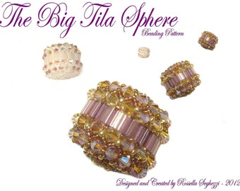Beaded Bead Pattern The Big Tila Sphere - Pdf file Only for personal use