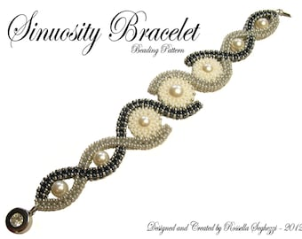Bead Pattern Bracelet Sinuosity - Pdf file Only for personal use