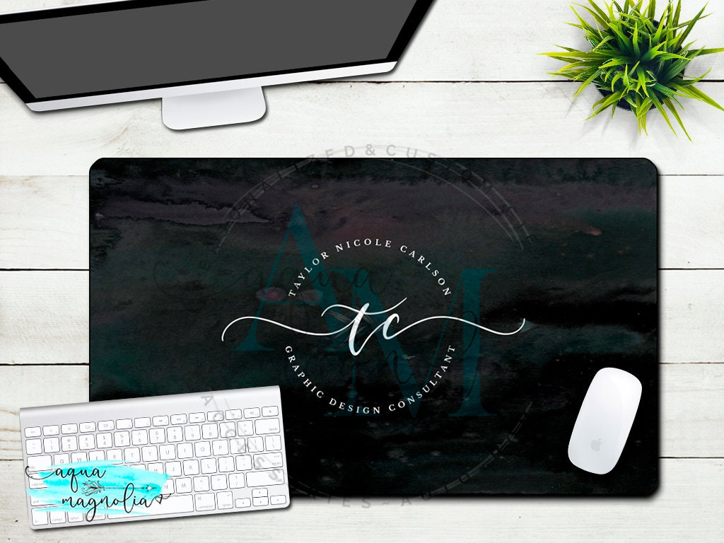 Sensational Custom Business Logo Desk Pad Large Desk Mat Monogrammed X Large Desk Pad Office Accessories Work Desk Mat Custom Design Home Remodeling Inspirations Gresiscottssportslandcom