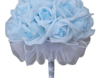 Light blue bouquet | Etsy