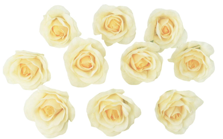 10 Yellow Rose Heads Silk Flower Weddingreception Table Etsy