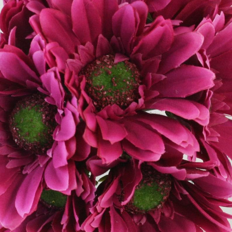 Hot Pink Daisy Bouquet 18 stems Bridal Wedding Flowers