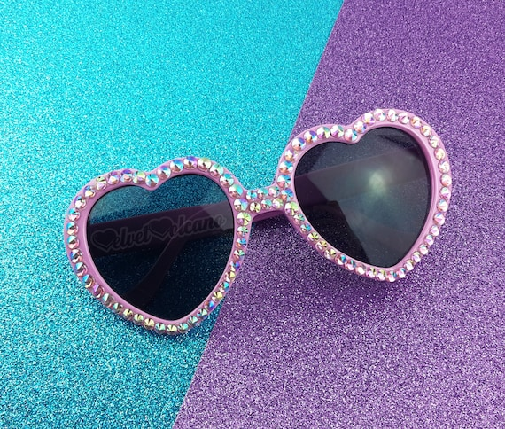 9ad16ed504 SAKURA Heart Sunglasses Baby Pink Sunglasses Sparkly