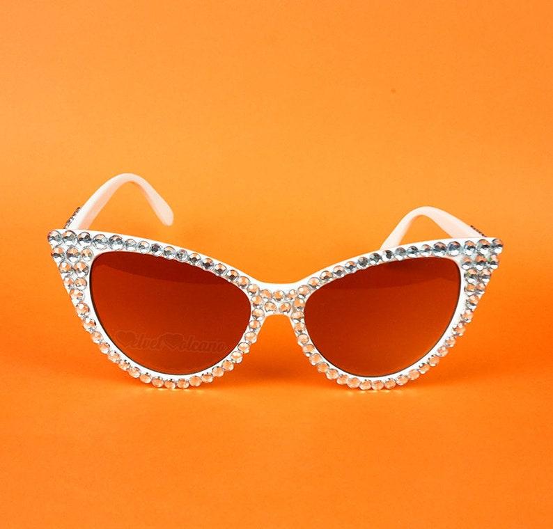 7329e1a3a22 DIAMOND Cat Eye Sunglasses Silver Cats Eye Glasses Wedding