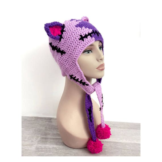 fad06d62ffc NecroKitty Lilac   Violet Frankenstein Cat Hat Purple Pussyhat