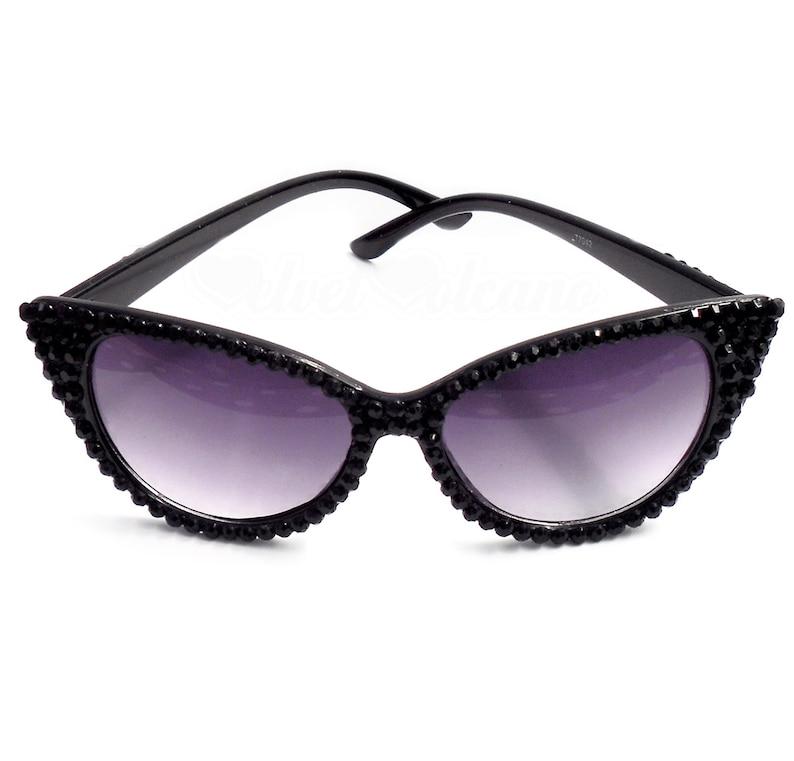 9b6cb8a8f7a SIREN Black Cat Eye Sunglasses Gothic Sunglasses Goth