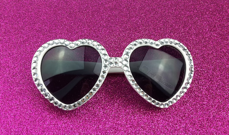 1eb9c8b432 MARILYN Silver Heart Sunglasses Wedding Sunglasses Silver
