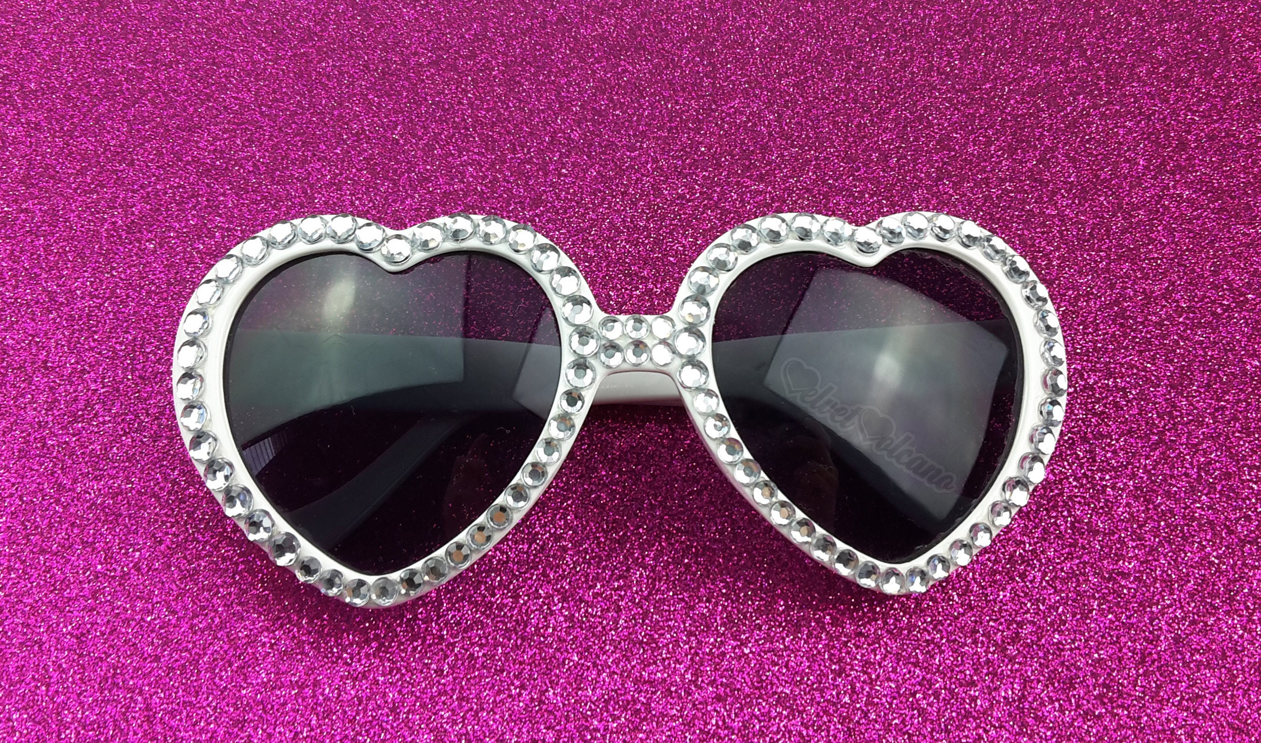 d53d838efd MARILYN Silver Heart Sunglasses Wedding Sunglasses Silver