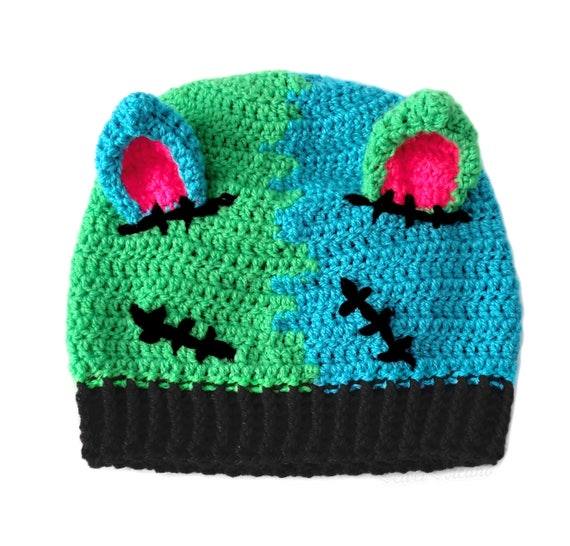 f15cab29610 FrankenKitty Beanie Frankensteins Monster Creepy Cute Hat