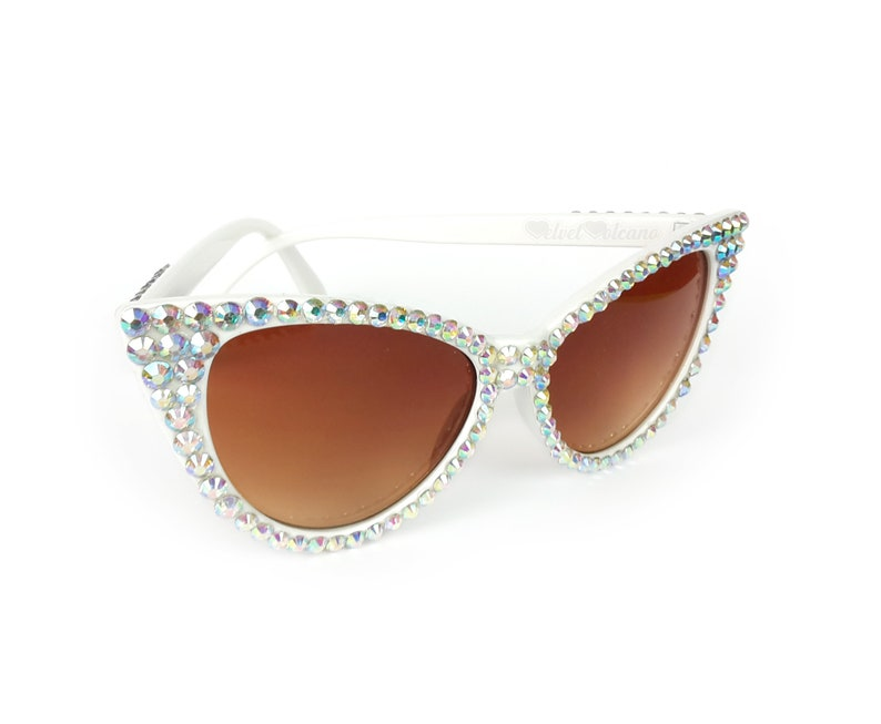 dce579522f63c STARLET Cat Eye Sunglasses Silver   White Sunglasses Fifties