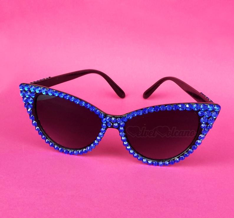 c826041517 ELECTRIC Cat Eye Sunglasses Royal Blue   Black Sunglasses