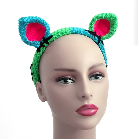 7e5f9246870 FrankenKitty Cat Headband Spooky Cute Frankenstein Womens Cat
