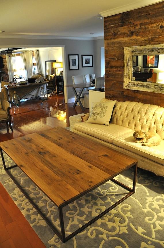 The ADAMS Coffee Table Reclaimed Barn Wood Coffee Table   Etsy