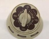 Vintage Mark Time Kitchen Egg Timer- White with Flower Pattern