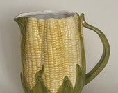 Vintage Corn on the Cob Pitcher by Cooks Club Inc - Porcelain Glazed