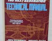 BOOK SALE Vintage Book Star Trek - The Next Generation Technical Manual (Sternbach Okuda)