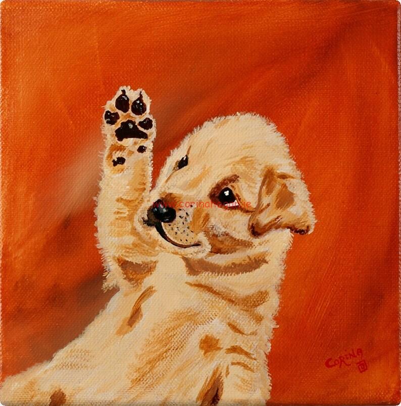 Niedliche Labrador Golden Retriever Welpe Hund Original Etsy