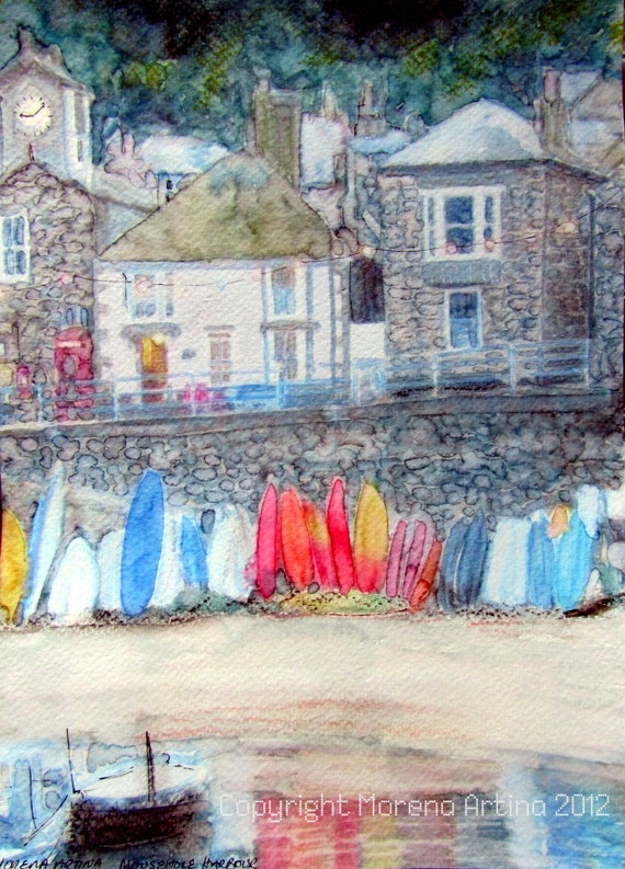 Cornish Harbour Limited Edition Giclee Print Cornwall