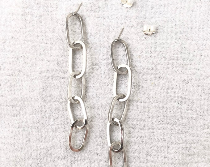 Silver Chain Studs