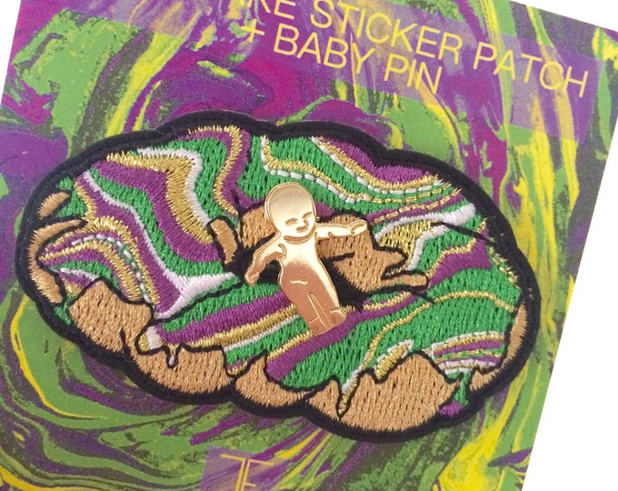 King Cake Patch + Baby Pin