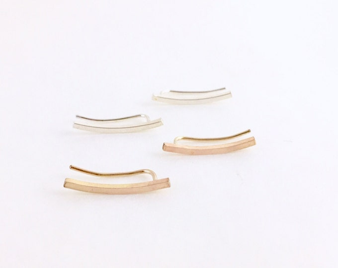 Curve Climbers | Sterling Silver or 14k Gold Fill