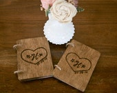 Rustic Chic Vow Books Set of 2