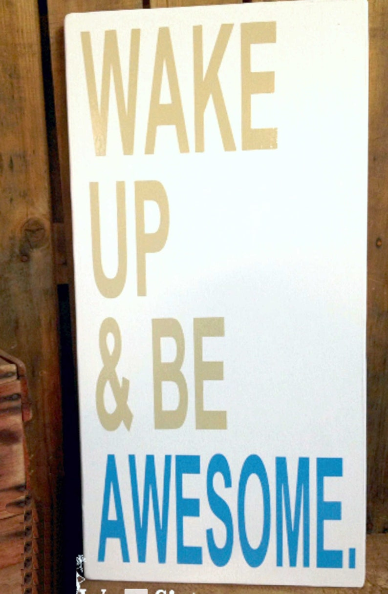 Inspirational Wall Art Inspirational Gifts Quotes Wake Up Etsy