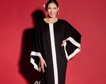 Black Maxi Dress/Long Black dress/ Caftan/ Abaya/ Plus size dress/ Plus size clothing/ Elegant dress/ Plus size maxi dress/ Kaftan